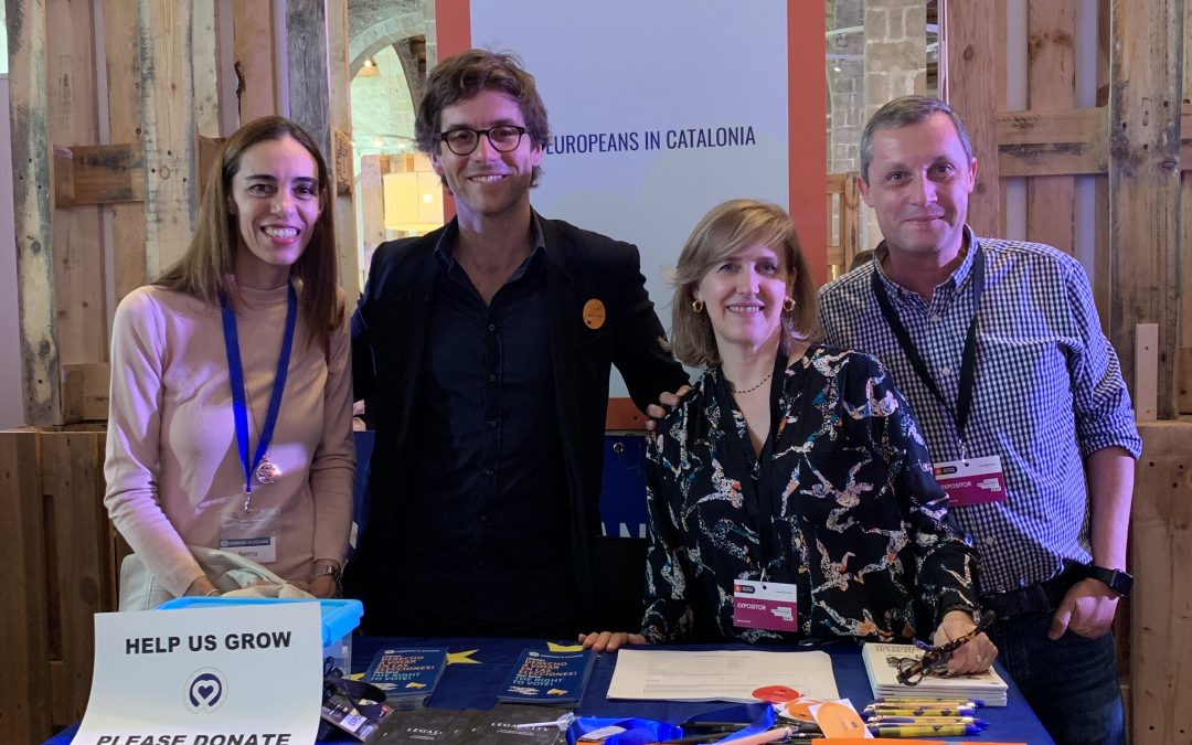 EiC stand at the Barcelona Community Day on the 26th Oct 2019